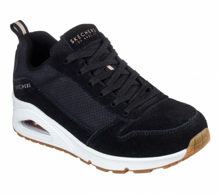 Sort Skechers Uno Two For The Show Sneakers