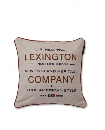 Beige Lexington Logo Sham Putetrekk