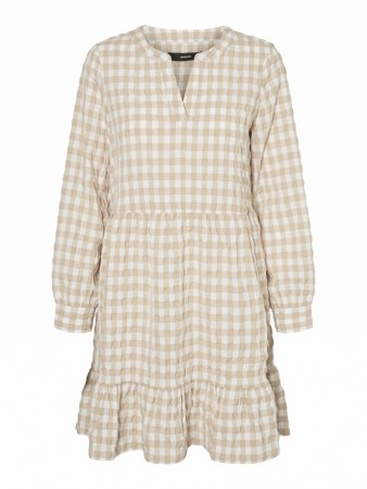 Beige Vero Moda Vmkimi W/l Short Dress