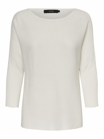 Off-white Vero Moda Vmnora 3/4 Boatneck Blouse