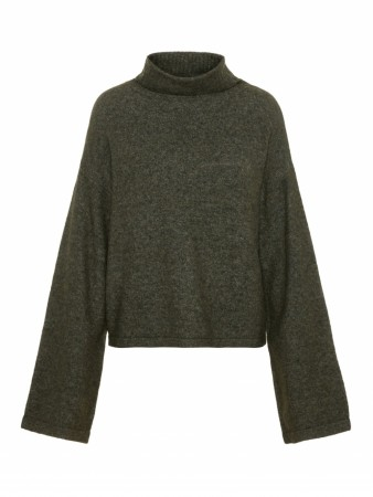 Grønn Pieces Pchoney Ls Rollneck Knit