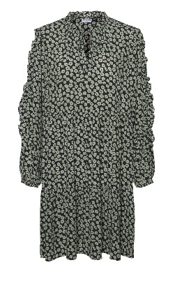 Grønn Noisy May Nmmare L/s Oversize Dress