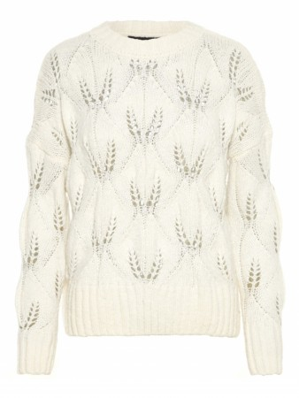 Off-White Vero Moda Vmbubo Pica Ls O-neck Blouse