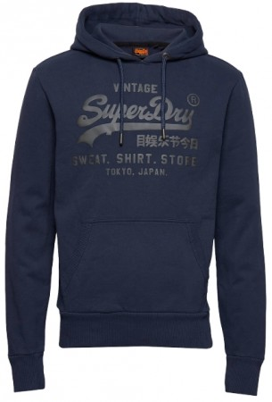 Blå Superdry Vl Shirt Shop Bonded Hood