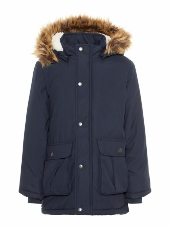 Mørk Blå Name It Nkmoa Parka Jacket