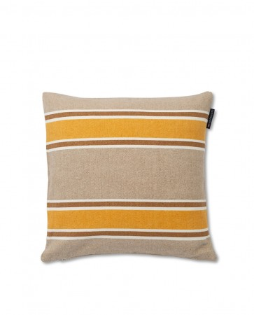 Gul Lexington Striped Cotton Canvas Sham Putetrekk