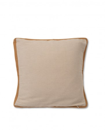 Beige Lexington Cotton Jute Sham Putetrekk